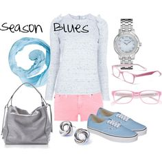 """""""Season Blues"""" by hkrout on Polyvore"""