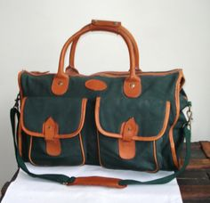 79953902cd SALE GANT 70s Duffel Bag Large forest Green by MushkaVintage3 Carry All Bag