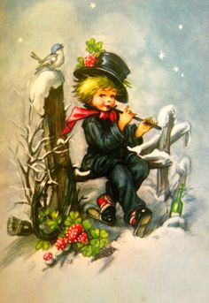 Vintage Christmas Images, Retro Christmas, Vintage Holiday, Christmas Pictures, Christmas Scenes, Christmas Past, Christmas Greetings, Vintage Greeting Cards, Vintage Postcards