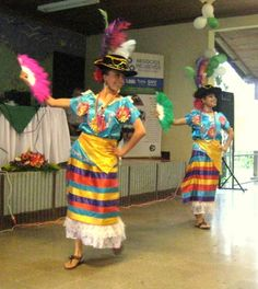 This bright costume is worn for the Mestizaje dance.