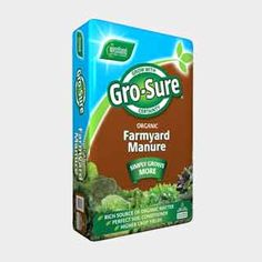 Westland Gro-Sure Organic Farmyard Manure 50 Litre. 100 or 200 Litre. A rich source of organic matter. Enriches soil and builds fertility, releasing essential nutrients required by plants for healthy growth. Organic Compost, Organic Farming, Garden Compost, Garden Soil, Soil Improvement, Organic Matter, Farm Yard, Trees And Shrubs, Outdoor Gardens