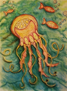 Rainbow Jellyfish ORIGINAL Watercolor by SurfCityArtworks on Etsy, $95.00
