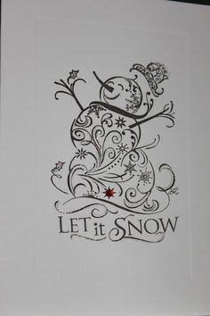 Reserve listing for jenniferklatt Snowman, Let It Snow, Christmas Thank You Cards