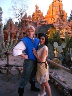 Pocahontas & John Smith at Disney World