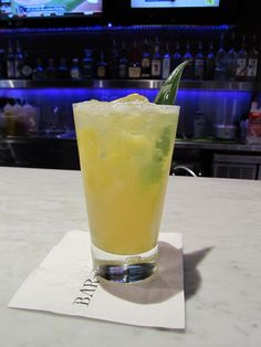 with Cachaca, crushed pineapple, charred lemon, lavender pineapple ...