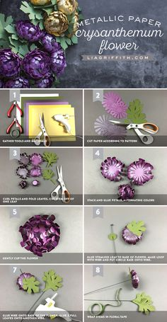 #paperflower #svgcutfile #paperart www.LiaGriffith.com