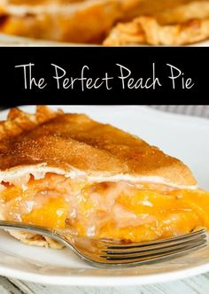 Vintage French Soul ~   The Perfect Peach Pie