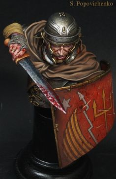 Painted with AK Interactive and Vallejo acrylic oil Abteilung Roman Armor, Art History, Rome, Medieval, Statue, Venom, Pirates, Projects, Painting