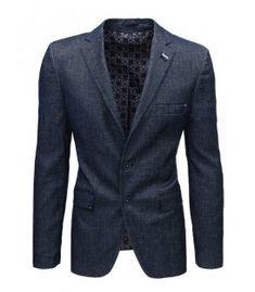 Tmavomodré pánske sako Blazer, Jackets, Men, Fashion, Down Jackets, Moda, Fashion Styles, Blazers, Guys