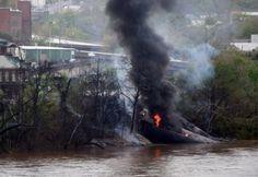 Virginia: Regresan a sus casas evacuados luego del incendio del tren