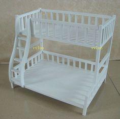 Doll Furniture White Bunk Beds 1 6 Scale Barbie Blythe | eBay