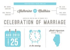 Grafiken schön, um wichtige Punkte zu highlighten...die versch. Höhepunkte der Hochzeit (Kirche, Bustransfer zur Location, Empfang, Essen, Dancing,...)
