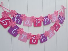 Happy Birthday Banner Party Banner by IECREATIONS on Etsy