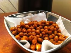 Spicy baked chickpeas