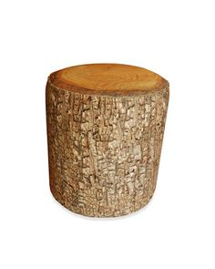 Wood pouf    From Chehoma; 800-983-1100.
