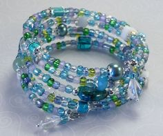 'By the Ocean Shore Wrap Bracelet' is going up for auction at  9am Thu, Aug 2 with a starting bid of $10.