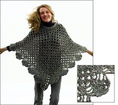 Martha's Poncho (Both knit and crochet) - This poncho is the most asked for pattern since Martha modeled it for everyone on TV.