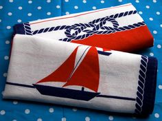 vintage nautical tea/dish towels in my etsy store