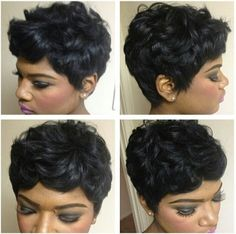 Thick pixie hairstyle