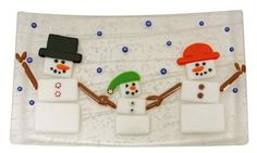 Fused Holiday plate