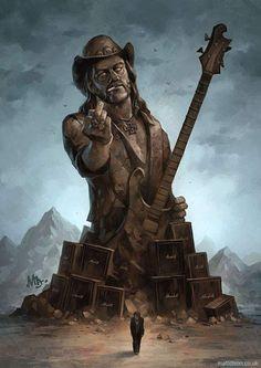 Born to Lose, Live to Win Lemmy monumental fan art by Matt Dixon. Heavy Metal Rock, Heavy Metal Music, Heavy Metal Bands, Music Pics, Music Artwork, Metal Artwork, Art Music, Rock Posters, Concert Posters