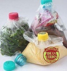 No tires bolsas de plástico ni tapitas de gaseosas. Reciclá las bolsas para guardar lo que quieras y las tapitas para poder abrir y cerrarlas cómodamente.