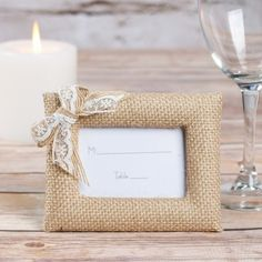 Burlap Place Card Holder/Photo Frame by Beau-coup