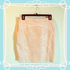 HOST PICKFree People tight pink Lacy skirt! From Free People. Tight. S but could fit a M. Such a pretty skirt but it's too big on me!! No trades or pp  Free People Skirts