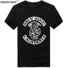 mens fashion casual USRUER-YEEZY 2017 S-3XL Men T Shirts Sons Of Anarchy California Dragon Vogue Kakarotto Fashion Short Sleeves Brand Mens T-shirts *** AliExpress Affiliate's buyable pin. Find similar products on www.aliexpress.com by clicking the VISIT button