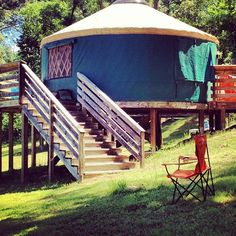 What's a yurt? It's like a circular cabin. Click through for ideas on how to make any cabin cozy!
