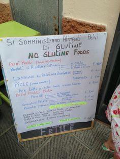 no glutine foods - Cinque Terre