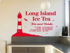 Wall Decal Cocktail Recipe Island I. Long Island, Rum, Cocktail Recipes, Cocktails, Wall Stickers Animals, Normal Wallpaper, Wall Tattoo, Nursery Wall Decals, Room Wall Decor