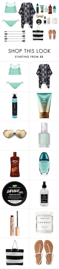 """""""Summer Vacy"""" by cheer8803 ❤ liked on Polyvore featuring New Look, Philip B, Wildfox, Essie, Calvin Klein, Little Barn Apothecary, Charlotte Tilbury, Herbivore and Aéropostale"""