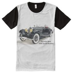 Shop All Over Panel T-Shirt created by Personalize it with photos & text or purchase as is! Benz, Shirt Style, Classic Cars, Your Style, Shirt Designs, Mens Tops, T Shirt, Printed, Unique