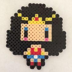Wonder Woman perler beads by pavlovskitty