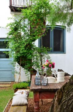 """This charming outside area is from our feature""""Return to Grace"""""""