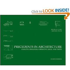 4th Edition of Precedents in Architecture: Analytic Diagrams, Formative Ideas, and Partis by Professor of Architecture Roger Clark, FAIA and Michael Pause came out February 2012. It will also be translated and published in Chinese soon!