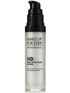 makeup forever HD primer- Great primer! Use under foundation for a flawless look. This looks great for close ups and professional photos.