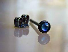 Male Stud Earring  Round Studs Earrings  Mens by LarryJewelryShop