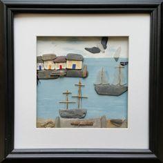 Charlestown, Cornwall, Pebble Art, Poldark