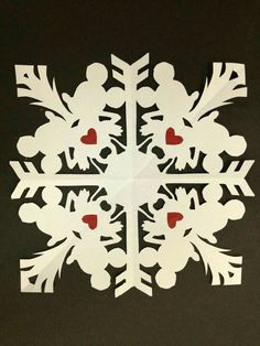 Mickey Mouse Paper Snowflake By Artist Daniel Langhans