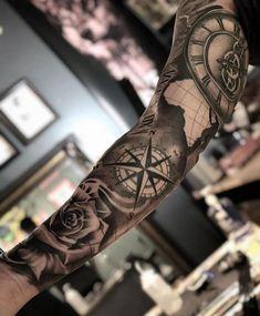 Polynesian Tattoo Sleeve, Nautical Tattoo Sleeve, Koi Tattoo Sleeve, Best Sleeve Tattoos, Tattoo Sleeve Designs, Tattoo Designs Men, Black And Grey Tattoos For Men, Dope Tattoos For Women, Cool Tattoos For Guys
