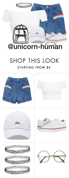 """Untitled #2914"" by unicorn-human on Polyvore featuring Alice + Olivia, Forever 21, Vans, pride and lgbt"