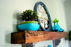 love decorating with vintage pyrex!