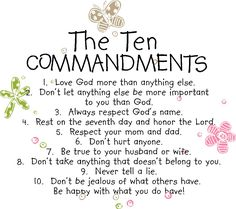 the ten commandments for children to understand