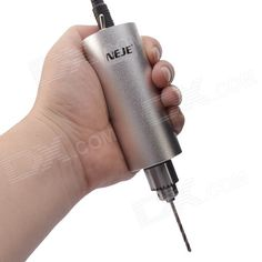 NEJE AH0002-3 DIY Stainless Steel Micro Electric Hand Drill w/ Drill Bit Set - Silver