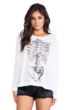 Wildfox Couture Daisy Bones Long Sleeve Tee
