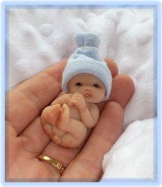 "** Ooak 2"" Full Sculpt Newborn Baby Boy * ANDREW* One Day Only ** | eBay"