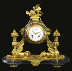 CRISTALLERIES DE BACCARAT A GILT-BRONZE AND CUT CRYSTAL MANTLE CLOCK BACCARAT, THIRD QUARTER 19TH CENTURY