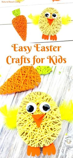 Easy Easter Crafts for Kids – Adorable Easter Yarn Crafts for Kids